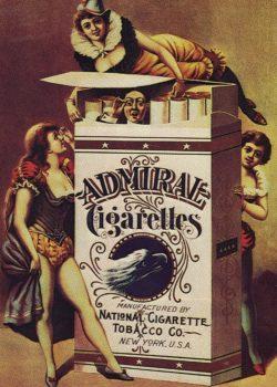 Vintage Poster Admiral Cigarettes, 1890