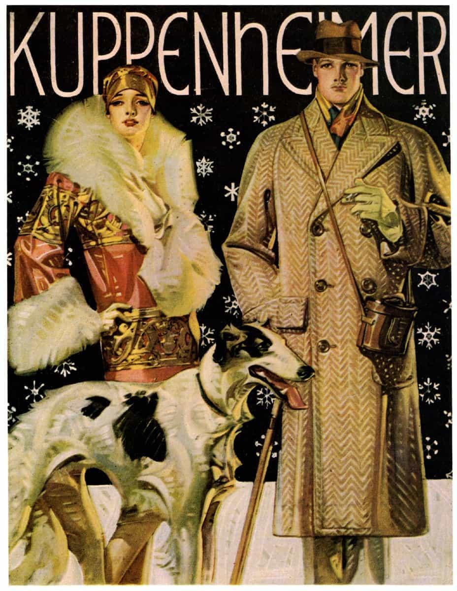 kuppenheimer old magazine cover art by jc leyendecker