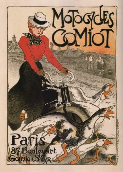 Theophile Steinlen Motorcycles Comiot 1899