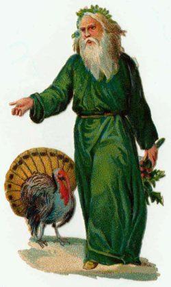 Green Victorian Santa Claus!