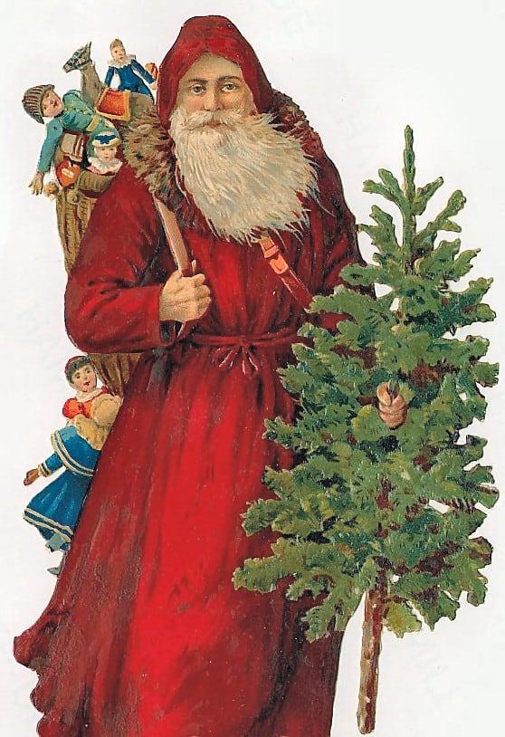 ... clip art hello there santa claus christmas green victorian santa