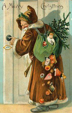 Brown Costumed Santa Claus Clip Art!