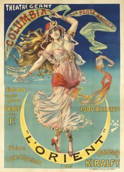 """Art Nouveau Poster """"L'Orient"""" by Pal, 1899"""