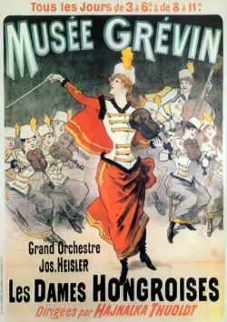 Musee Grevin Grand Orchestre Jos, Heisler Vintage Poster by Jules Cheret