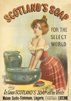 """Scotland's Soap"" Poster by Jean de Paleologue, 1893"
