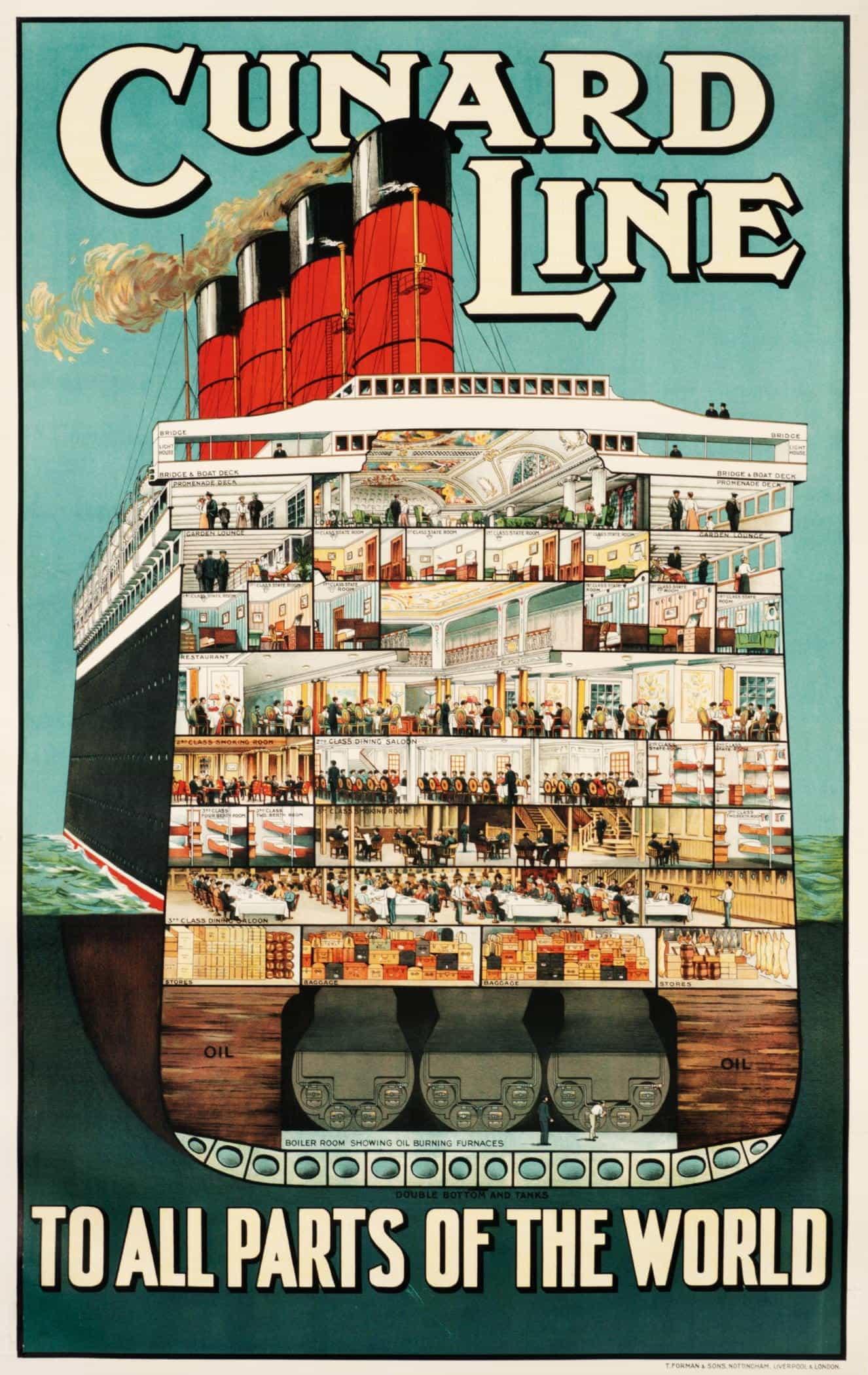 Art Print Norway Midnight Sun Travel Poster 1930s Print 8 x