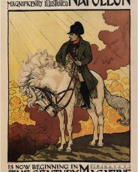 A NEW LIFE OF NAPOLEON Magnificently Illustrated Vintage Poster 1894