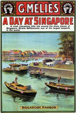 Vintage Travel Poster: A day at Singapore by G. Melies