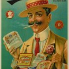 A. Viktorson Cigarette Papers Russian Advertising Poster
