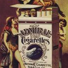 Admiral Cigarettes Vintage Advertising Poster