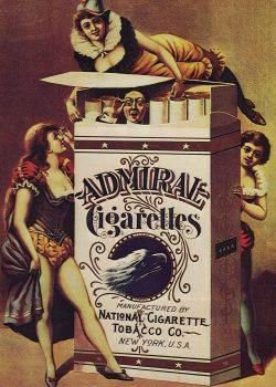 Admiral Cigarettes Vintage Advertising Poster