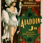 1894 Aladdin Jr. A Tale of A Wonderful Lamp – Classic Theater Poster Art