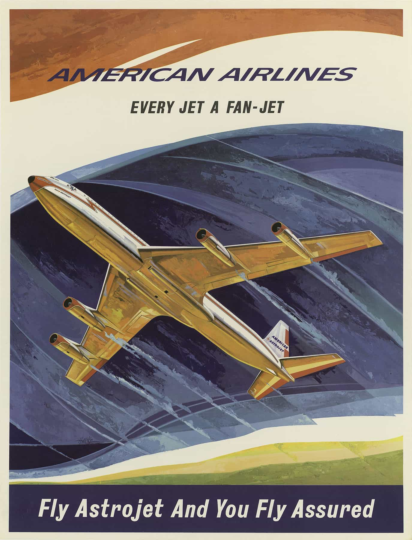 Vintage American Airlines Poster Every Jet A Fan-Jet