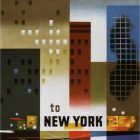 American Airlines to New York Vintage Travel Poster