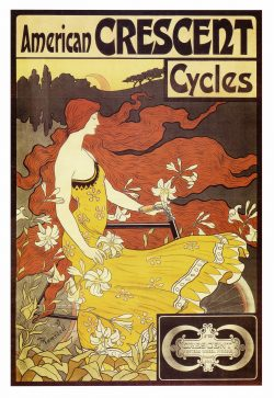 Frederick Winthrop Ramsdell American Crescent Cycles Poster, 1899