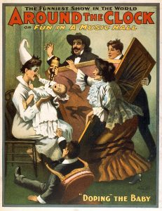 Around the Clock or Fun in a Music Hall – Classic Theatrical Poster, 1907