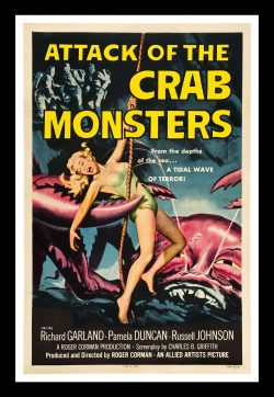 Retro Poster: Attack of the Crab Monsters by Roger Corman