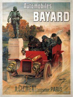 Advertising Poster – Automobiles Bayard Paris by Hugo d'Alesi, 1903