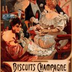 Biscuits Champagne Lefèvre-Utile Poster Alfons Mucha