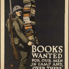 Vintage War Propaganda Poster – Books Wanted by Charles Buckles