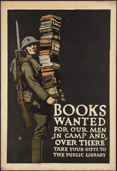 Books Wanted of our men WPA Poster