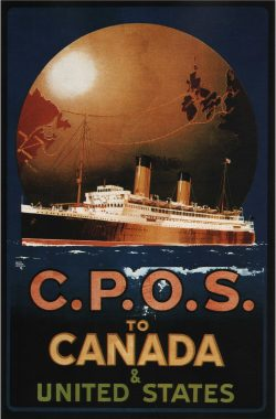 Vintage Travel Posters: C.P.O.S To Canada & United States