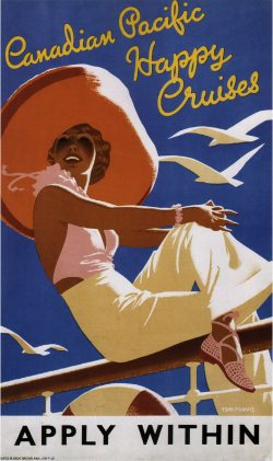 Canadian Pacific Happy Cruises Vintage Travel Poster