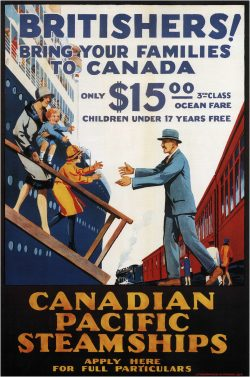 Canadian Pacific BRITISHERS! Bring Your Families To Canada