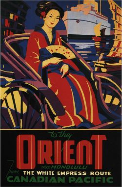 Vintage Travel Poster: Canadian Pacific To The Orient
