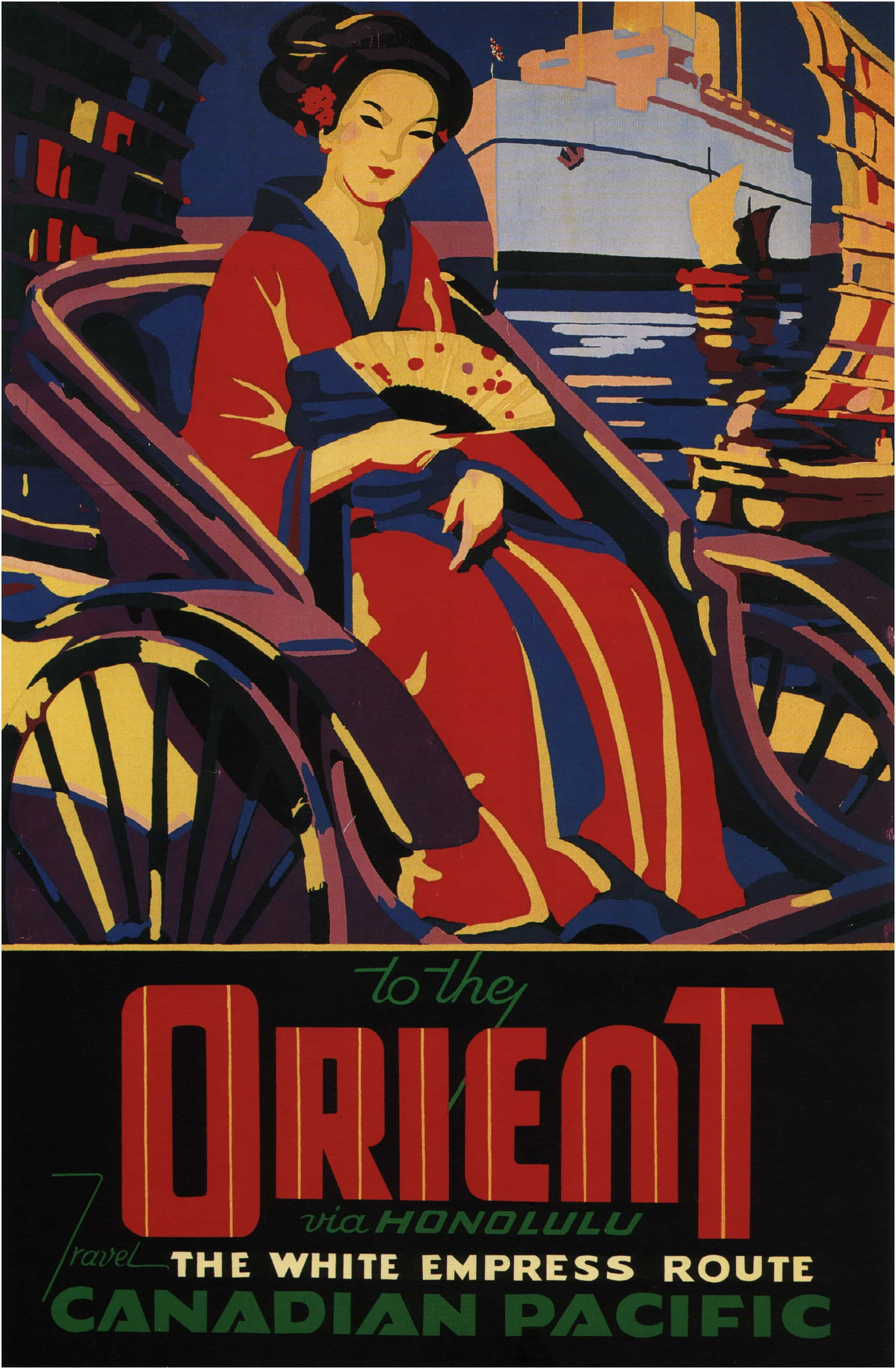 Canadian Pacific The Orient Vintage Travel Poster Print T196 A4 A3 A2 A1 A0|