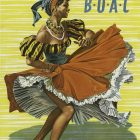 Lady Dancing Fly B.O.A.C to Caribbean Travel Poster by Jamey Scally