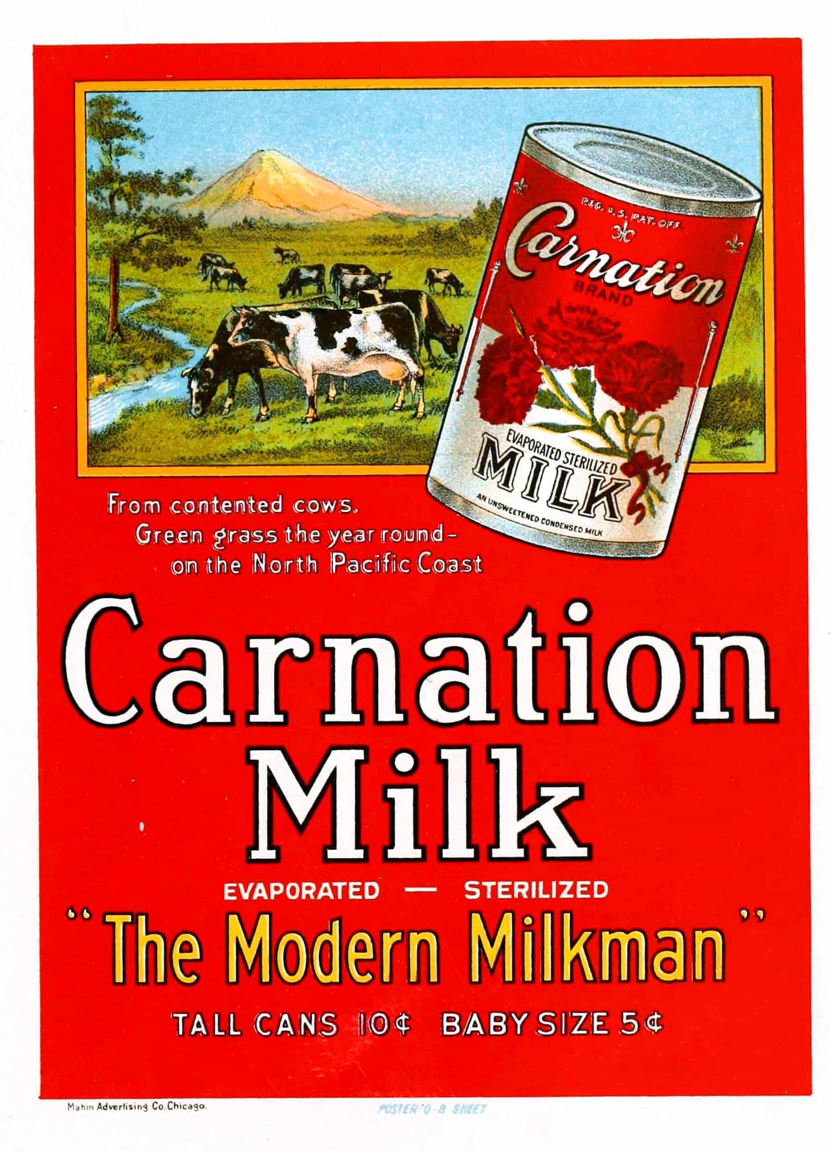 Carnation Milk - Vintage Food Advertising Poster Art