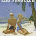 Vintage Airline Poster: Continental Air Lines To Los Angeles