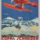 Coppa Schneider Vintage Poster, Umberto Di Lazzaro 1927