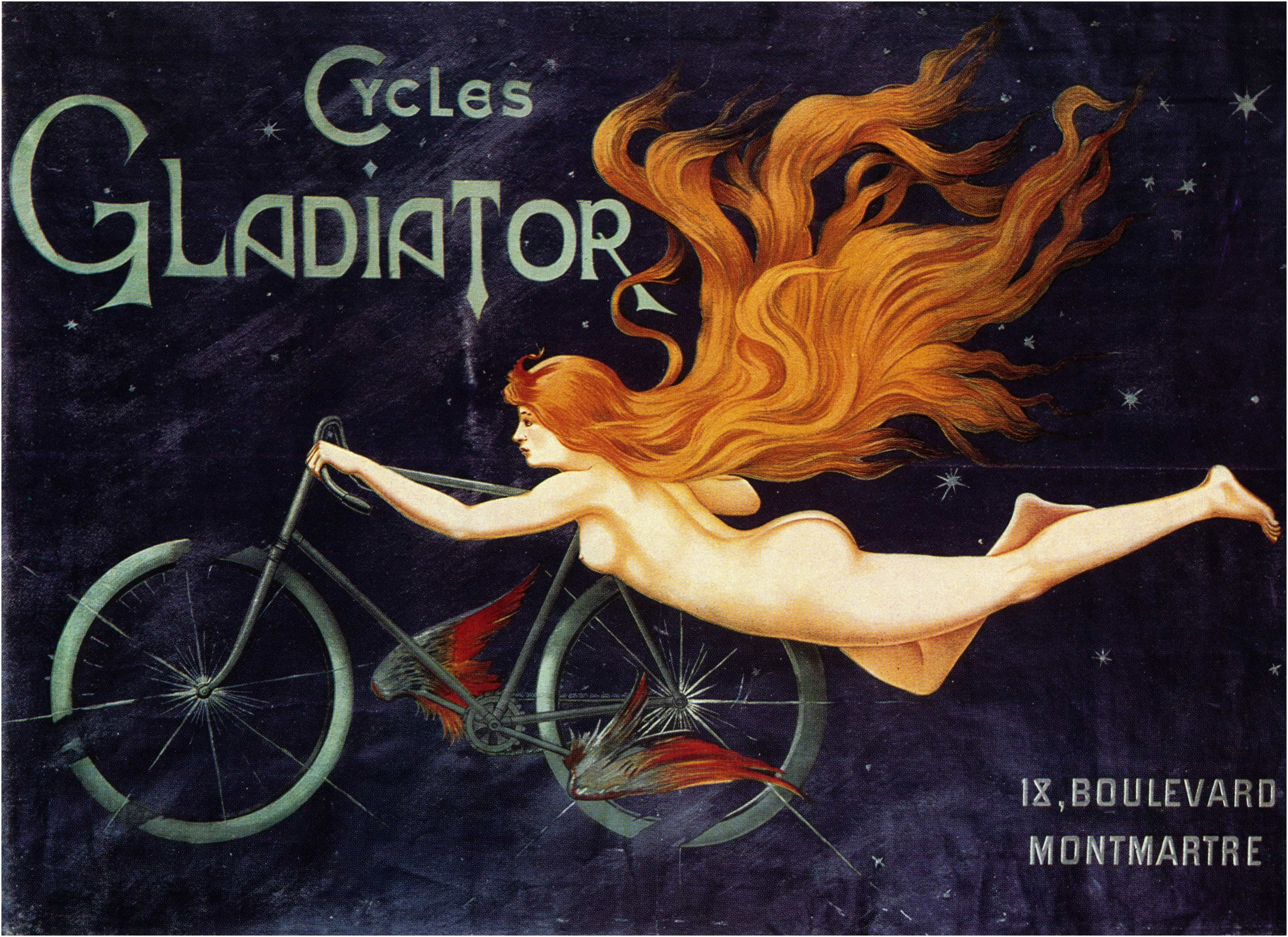 Vintage French Posters: Cycles Gladiator 1895