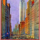Vintage Railway Poster Ad – Fifth Avenue New York: The World's Greatest Shopping Street, 1932