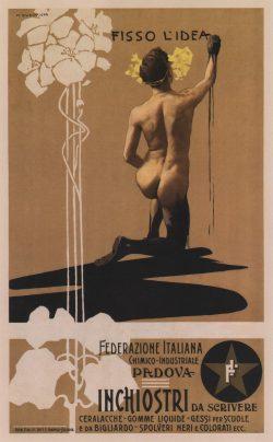 """""""Fisso l'idea"""" Art Nouveau Poster by Marcello Dudovich"""