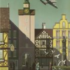 Vintage Airline Poster: Fly TWA to Germany