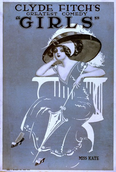 Girls Broadway Show by Clyde Fitch Vintage Poster, 1906