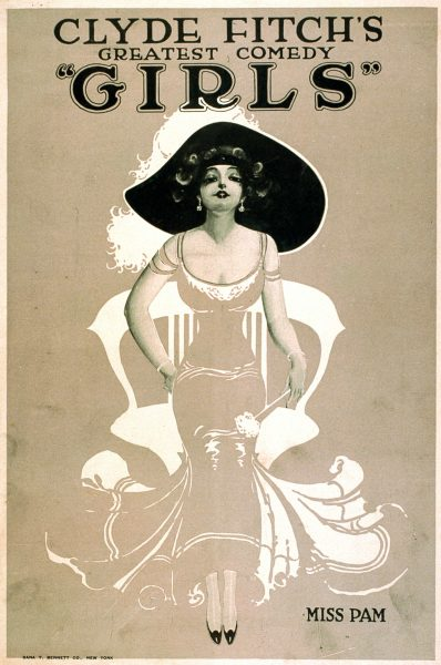 Girls Broadway Show by Clyde Fitch Vintage Poster 3, 1906