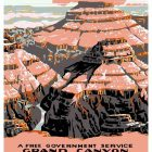 Grand Canyon National Park Tourism Poster Art, 1938