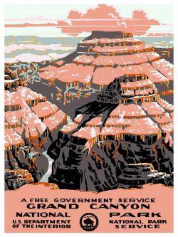Grand Canyon National Park Tourism Poster Art, 1938