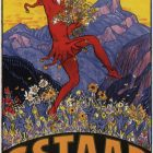 Gstaad High Resolution Vintage Art Poster, 1924