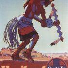 Vintage Tourism Poster: Hopiland Santa Fe