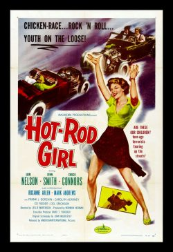 Hot Rod Gang Retro Movie Poster,1958