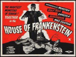 House of Frankenstein Vintage Film Poster, 1944