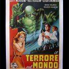 Retro Movie Ad Poster, 1960 Il Terrore sul Mondo (The Creature Walks Among Us)