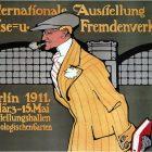 Internationale Ausstellung für Fremdenverkehr Old Tourism Poster, 1911