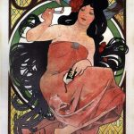 Alfons Mucha, JOB Rolling Paper Advertising Poster