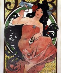 JOB-Cigarette-Papers-Alphonse-Mucha-1898